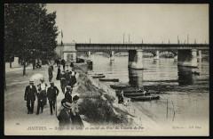 Berges de la Seine  en amont du pont du Chemin de Fer 92 Asnières-sur-Seine