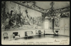 Ecole ecclésiastique Ozanam, fresques de Lafon dans le Salon de l'Ecole - Asnières-sur-Seine