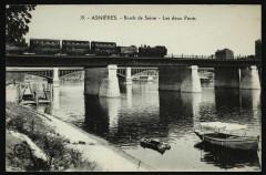 Bords de la Seine - Les deux Ponts 92 Asnières-sur-Seine