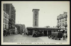 La Gare et la Rue des Aubépines - Bois-Colombes