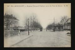 Avenue Edouard-Vaillant, prise du Pont de Sèvres 92 Boulogne-Billancourt