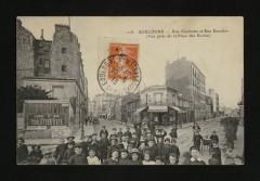 Rue Gambetta et Rue Escudier (Vue prise de la Place des Ecoles) - Boulogne-Billancourt