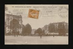 Rond-point de la Reine et chaussée du pont - Boulogne-Billancourt