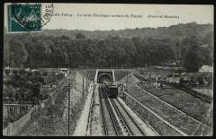 Vue générale sur le Bois et entrée du Chemin de Fer Electrique - Viroflay