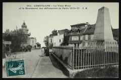 Monument de la Défense (guerre 1870) et la Tout Biret - Châtillon
