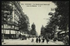 Le Boulevard National vers la Mairie 92 Clichy