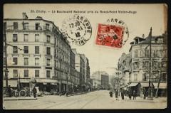 Le Boulevard National pris du Rond-Point Victor-Hugo - Clichy