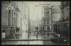 Crue de la Seine - Rue de la Mairie 92 Clichy
