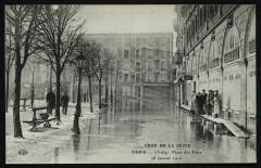Crue de la Seine - Place des Fêtes 28 janvier 1910 92 Clichy