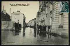 Crue de la Seine - Janvier 1910 - La Rue Martre 92 Clichy