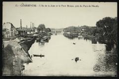 L'Ile de la Jatte et le Pont Bineau, pris du Pont de Neuilly - Neuilly-sur-Seine