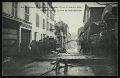 La Banlieue parisienne inondée (Crue de Janvier 1910) - La Rue de Saint-Germain - Courbevoie