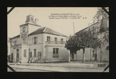 La Mairie et l'arbre planté en Souvenir de la grande Guerre 1914-1918-14 juillet 1919 - Marnes-la-Coquette