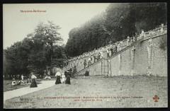 Terrasse de l'Observatoire - Escalier conduisant à la deuxième Terrasse et à l'entrée du Bois - Meudon