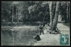 Etang [pêcheurs] - Meudon
