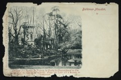 La Cour des dames de France, la grotte la Chaumière et le lac, ancien parc du Château de Bellevue donné par Louis Xv à Madame de Pompadour - Meudon