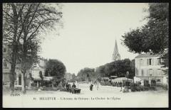 Bellevue - L'Avenue du Château - Le Clocher de l'Eglise - Meudon