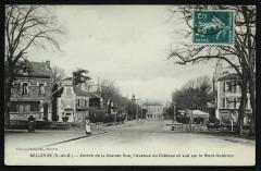 Entrée de la Grande Rue, l'avenue du Château et vue sur le Mont-Valérien - Meudon
