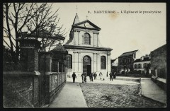 L'église et le presbytère - Nanterre