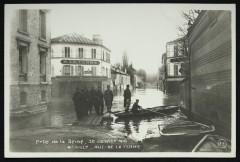 Crue de la Seine, 30 Janvier 1910 - Rue de la Ferme - Neuilly-sur-Seine