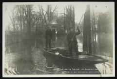 Crue de la eine - 30 janvier 1910 - Bd Richard Wallace - Neuilly-sur-Seine