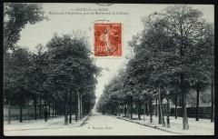 Boulevard d'Argenson, pris du Boulevard du Château - Neuilly-sur-Seine
