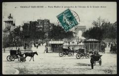 Porte Maillot et perspective de l'Avenue de la Grande Armée - Paris 16e
