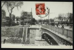 Le pont Pont Bineau et l'Ile de la Jatte - Neuilly-sur-Seine
