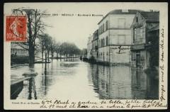 Crue de Janvier 1910 - Boulevard Bourdon - Neuilly-sur-Seine