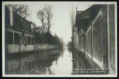 Crue de la seine - 30 Janvier 1910 - rue de Longchamps - Neuilly-sur-Seine