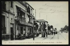 Café-restaurant de l'Yonne, H. Tillebault, 8 avenue de Paris - Rueil-Malmaison