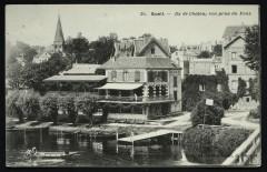 Ile de Chatou, vue prise du Pont - Rueil-Malmaison