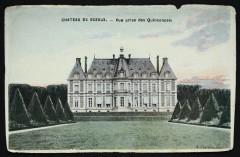 Château de Sceaux - Vue prise des Quinconces 92 Sceaux