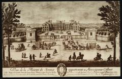 Château de Sceaux - Musée de l'Ile-de-France. Le Château en 1675. Gravure d'Israël Silvestre. [Reproduction de gravure]. 92 Sceaux