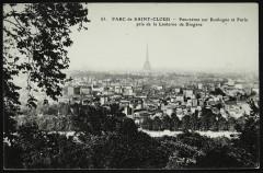 Panorama sur Boulogne et Paris pris de la Lanterne de Diogène - Saint-Cloud