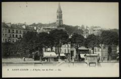 L'eglise, Vue du Pont - Saint-Cloud