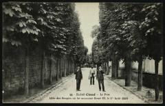 Allée des Soupirs où fut assassiné Henri III, le 1er Août 1589 92 Saint-Cloud