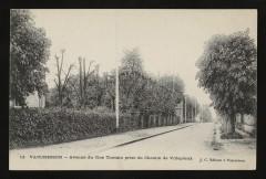 Avenue du Clos Toutain prise du Chemin de Villepreux - Vaucresson