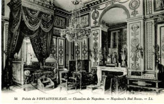 56, Palais de Fontainebleau (Palace of Fontainebleau, Napoleon's Bed Room) (NBY 1988)