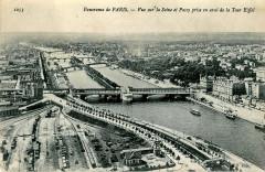 Nd 1053 - Panorama de Paris - Vue sur la Seine et Passy prise en aval de la Tour Eiffel - Paris 7e