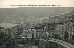 Panorama of Paris, view from the Trocadero towards Passy - Paris 7e