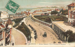 Biarritz-Avenue Edouard Vii et Tramway de Bayonne-Ll 106 - Biarritz