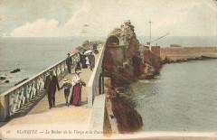 Biarritz-Le Rocher de la Vierge et la Passerelle-Ll 16 - Biarritz