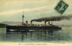 Jules Ferry, croiseur cuirassé français photographié par Bougault, colored - Cherbourg-en-Cotentin