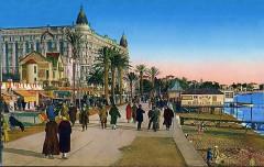 La Croisette de Cannes dans les années 1930 (A) - Cannes