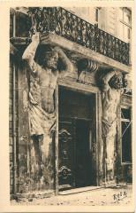 Aix en Provence-Fr-13-vers 1930-l'Hôtel d'Espagnet-les Cariatides - Aix-en-Provence
