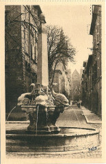 Aix en Provence-Fr-13-vers 1930-la Fontaine des Quatre-Dauphins - Aix-en-Provence
