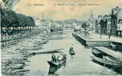 Hacquart 60 - Amiens - Le Marcgé sur l'eau - Bateaux d'Hortillons - Amiens