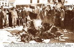 1911 autodafé de feuilles d'impots - Bar-sur-Aube