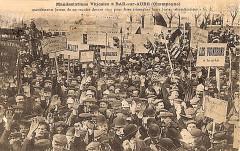1911 Révolte vignerons champenois - Bar-sur-Aube